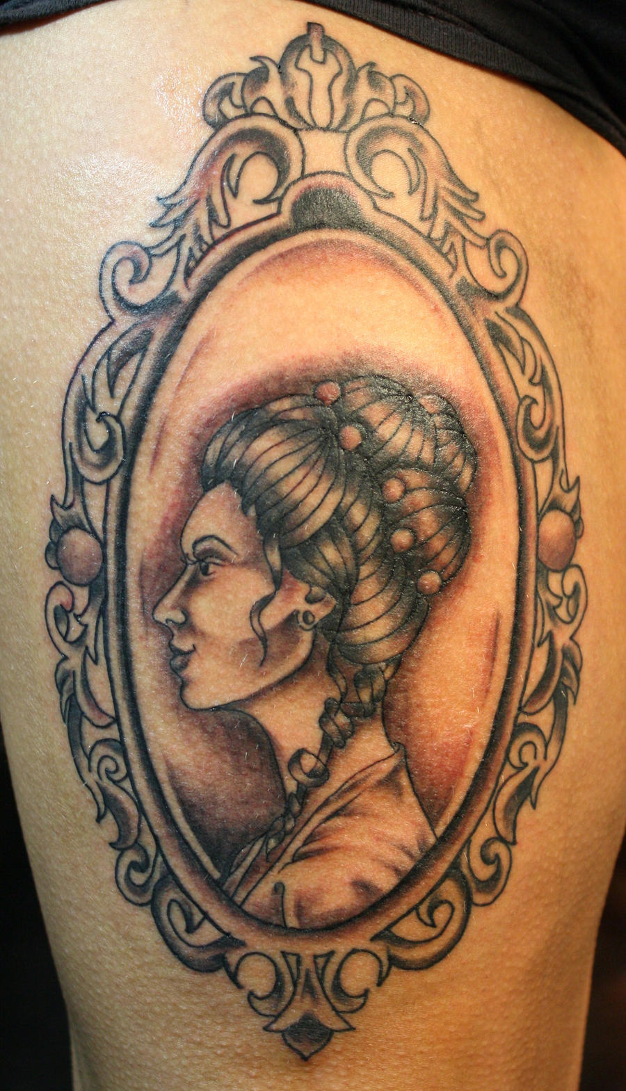 victorian cameo tattoo by AirEelle on DeviantArt