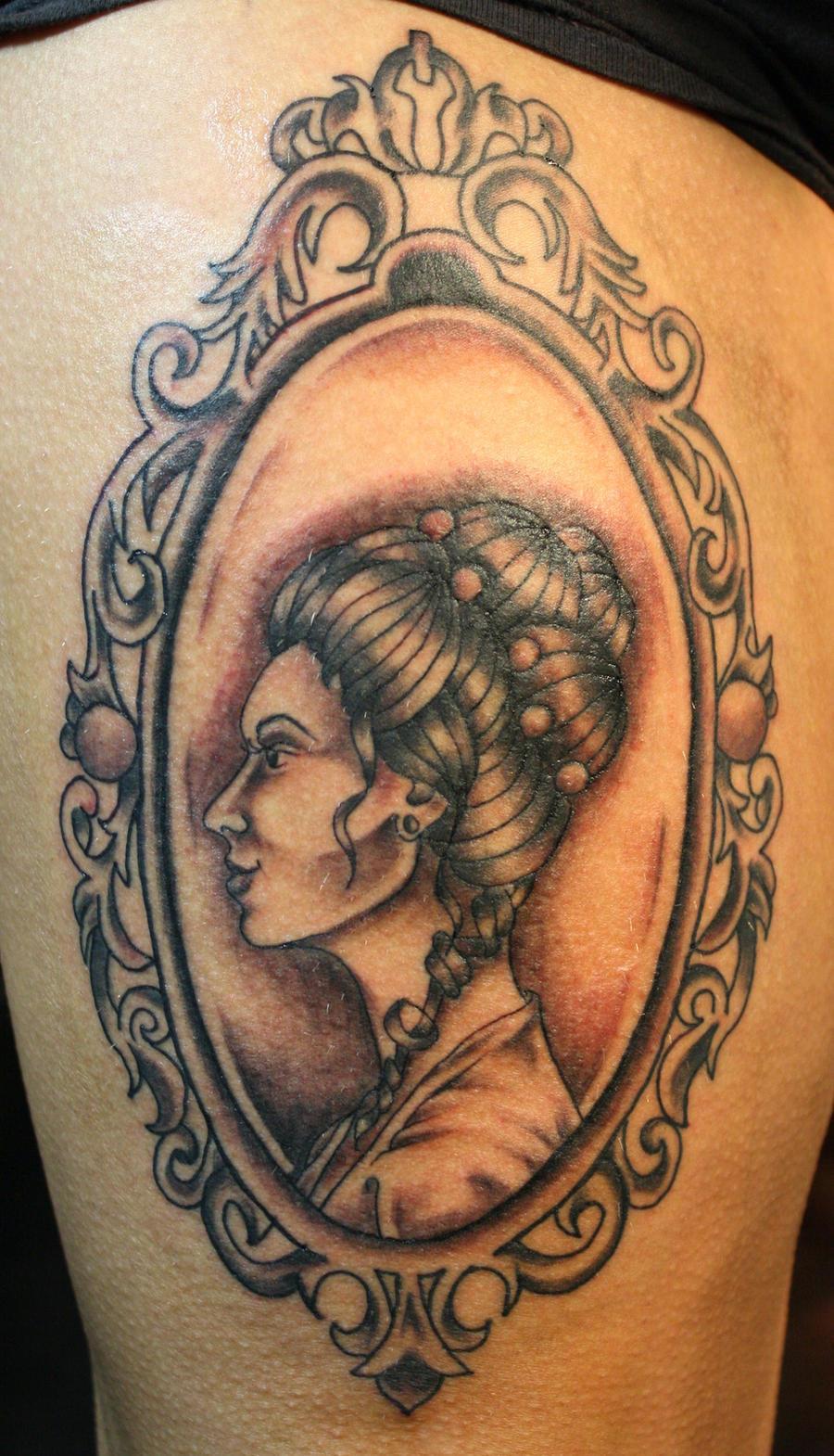 victorian cameo tattoo