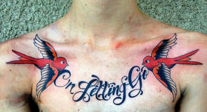 Circa Survive Chest Tattoo by AirEelle