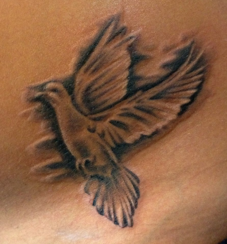 Dove tattoo by aireelle on deviantart for Two doves tattoo