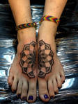 Mandala foot tattoo
