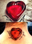 Heart ruby tattoo