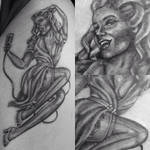 Small pin up on thigh
