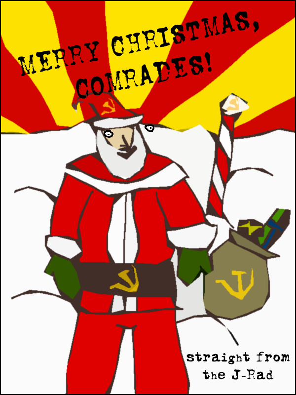 Communist Christmas Card by theloneamigo