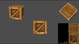 Low Poly Hand Painted Crate