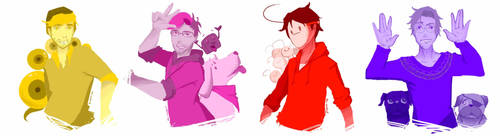 Youtubers Unusual Colour by ms-wabbit