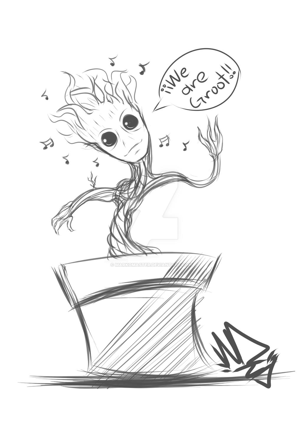 Coloriage b b groot meilleures id es coloriage pour les for Groot coloring pages