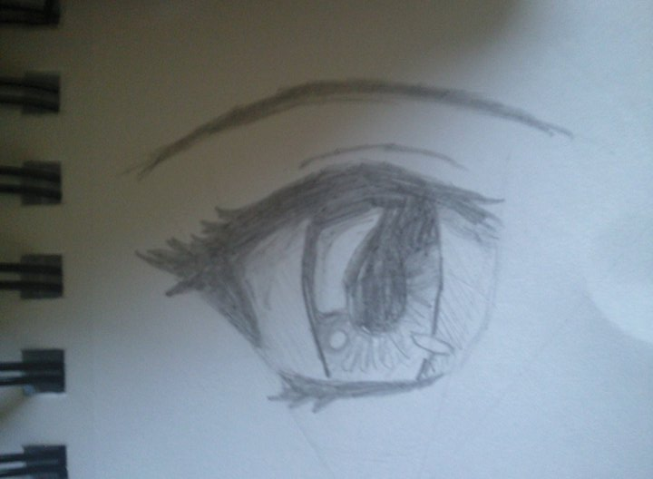 Anime eye sketch by crazytabbix