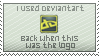 Old Deviantart Logo Stamp By KandiTehCat by Unearthlysoap