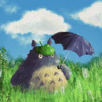 Totoro with Umbrela