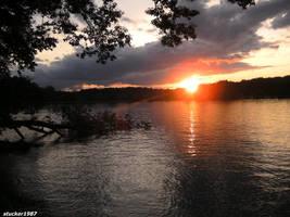 sunset off bantam lake 6 by stucker1987