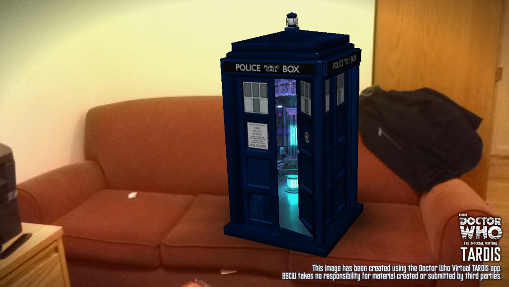 The TARDIS Lands On My Couch By AugustHenry4 On DeviantArt