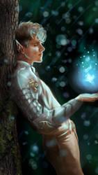 Fantasy elf digital art painting by awmaryy