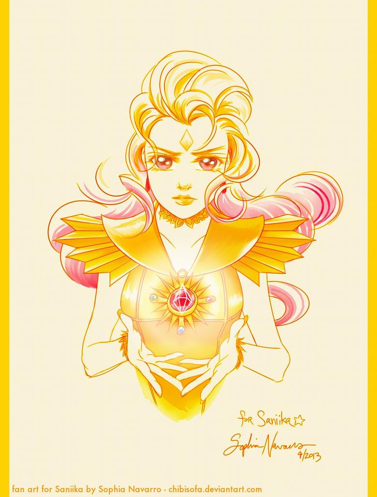 Sailor Galaxia Art Trade for Saniika by ChibiSofa