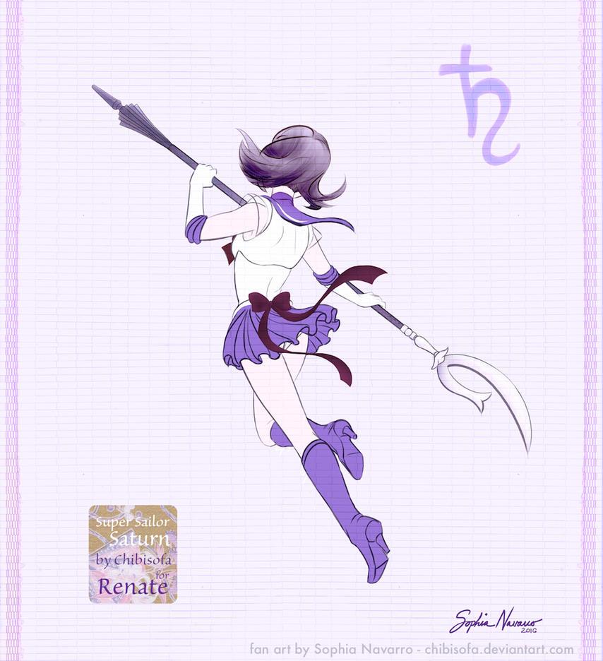 Super Sailor Saturn for Renate by ChibiSofa