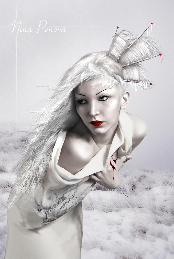 Broken in white by PerfectedInPain