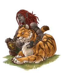 Kyrazha and Lian by Veritasket