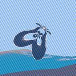 Marsh Snipe Fly Pop Art by Ampelosa