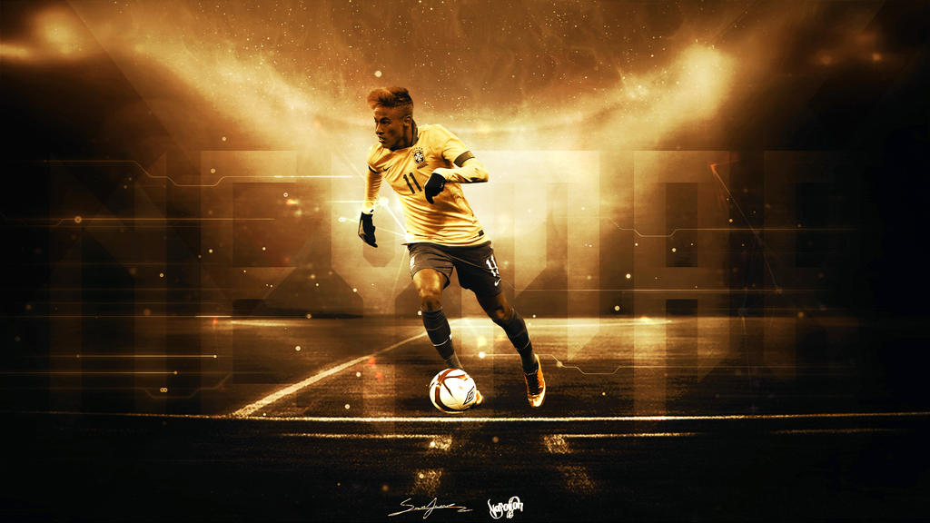 Neymar Da Silva Wallpaper by napolion06