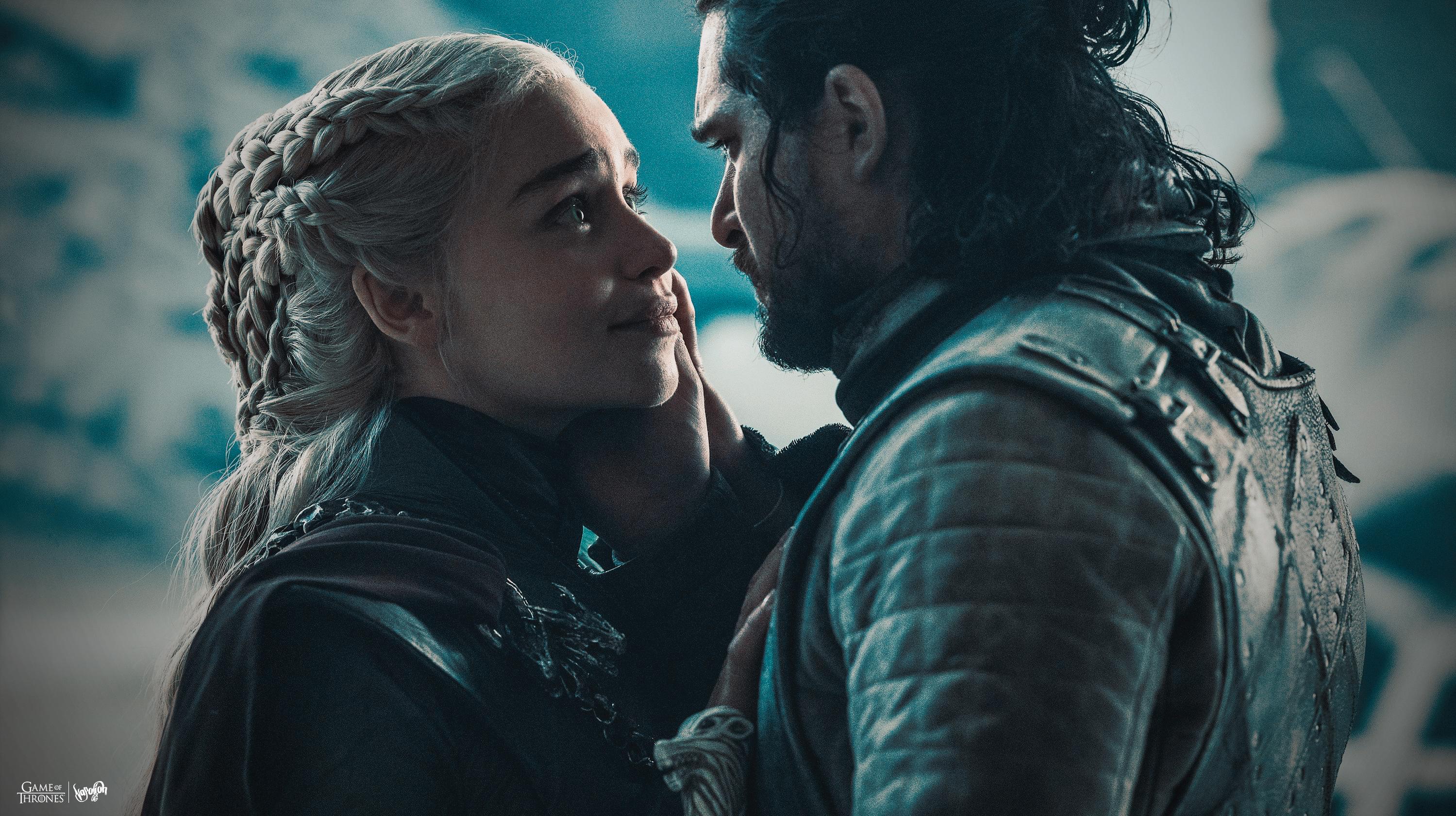 Daenerys Targaryen Jon Snow Wallpaper By Napolion06 On Deviantart