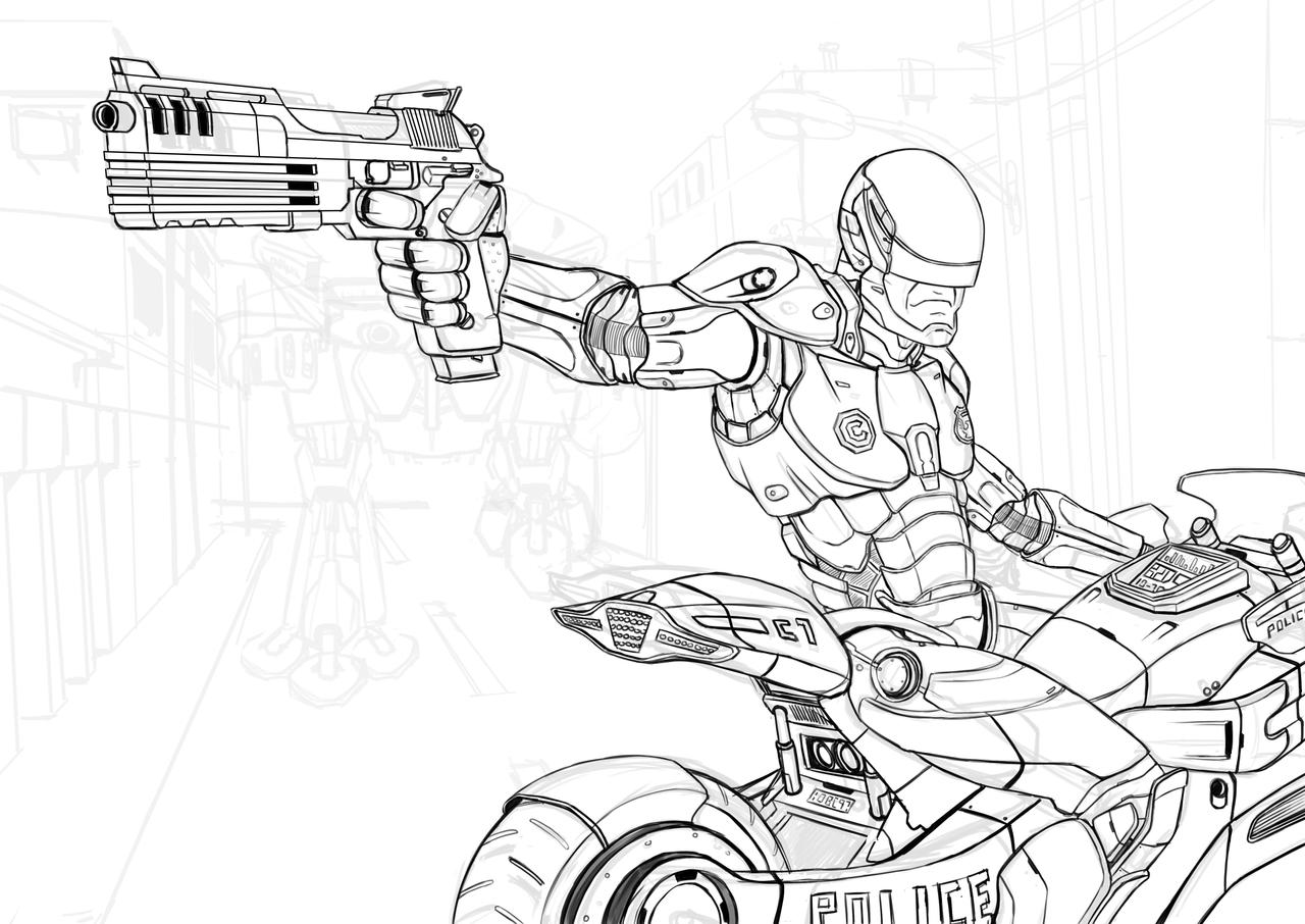 robocop coloring pages - photo#27
