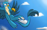 Gallus among clouds