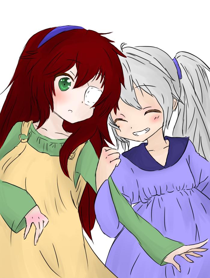 Ehirekowoca and Midoriko - Child ver. by LluviaKiara