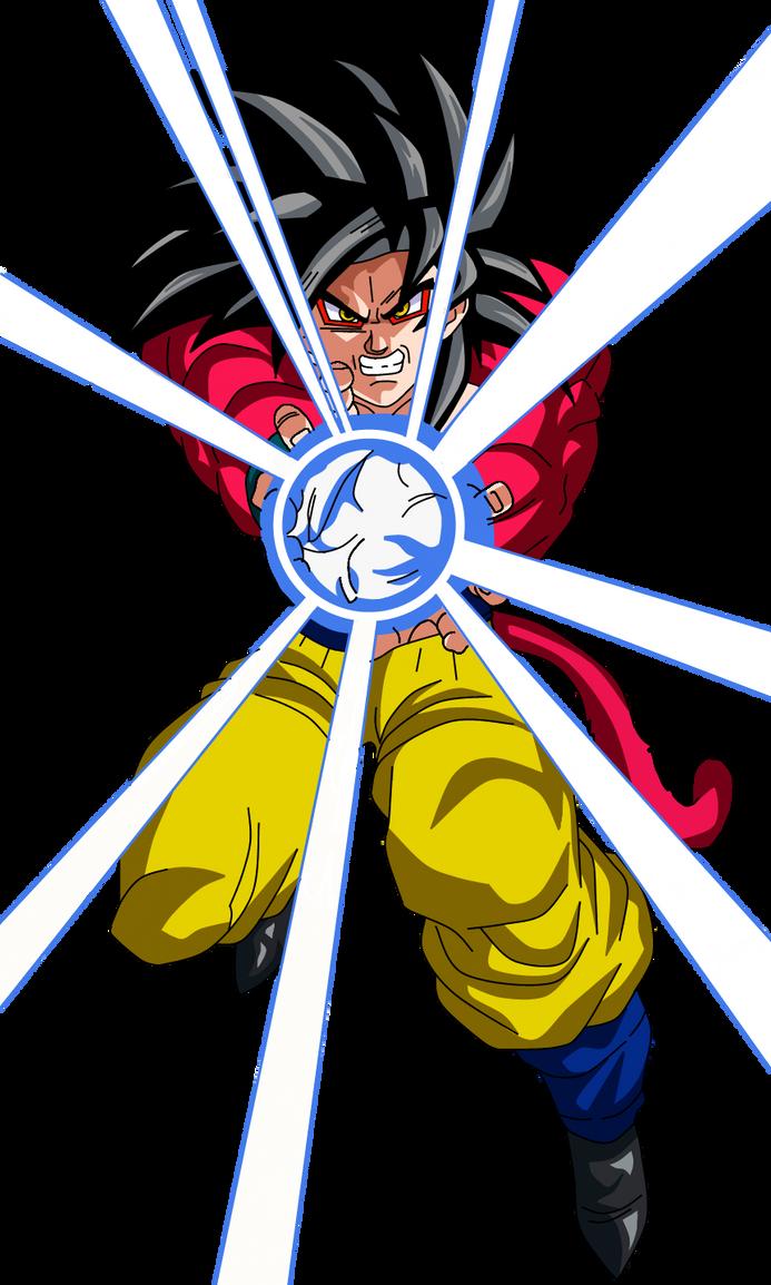 Goku SSJ4 Kamehameha by a-vstudiofan on DeviantArt