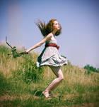 jumping redhead by Sssssergiu