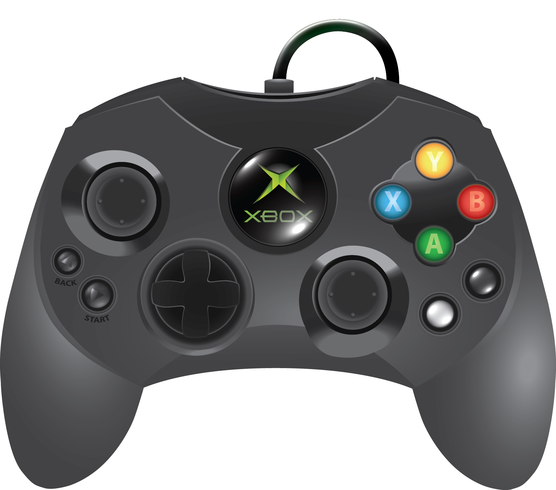 black xbox controller png - photo #36