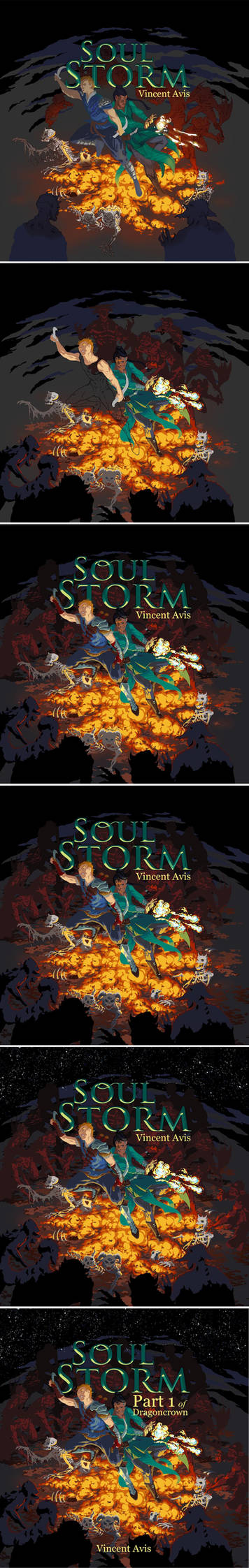 Soul Storm Cover Art step by step