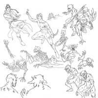 Soul Storm Cover Art: the original drawings