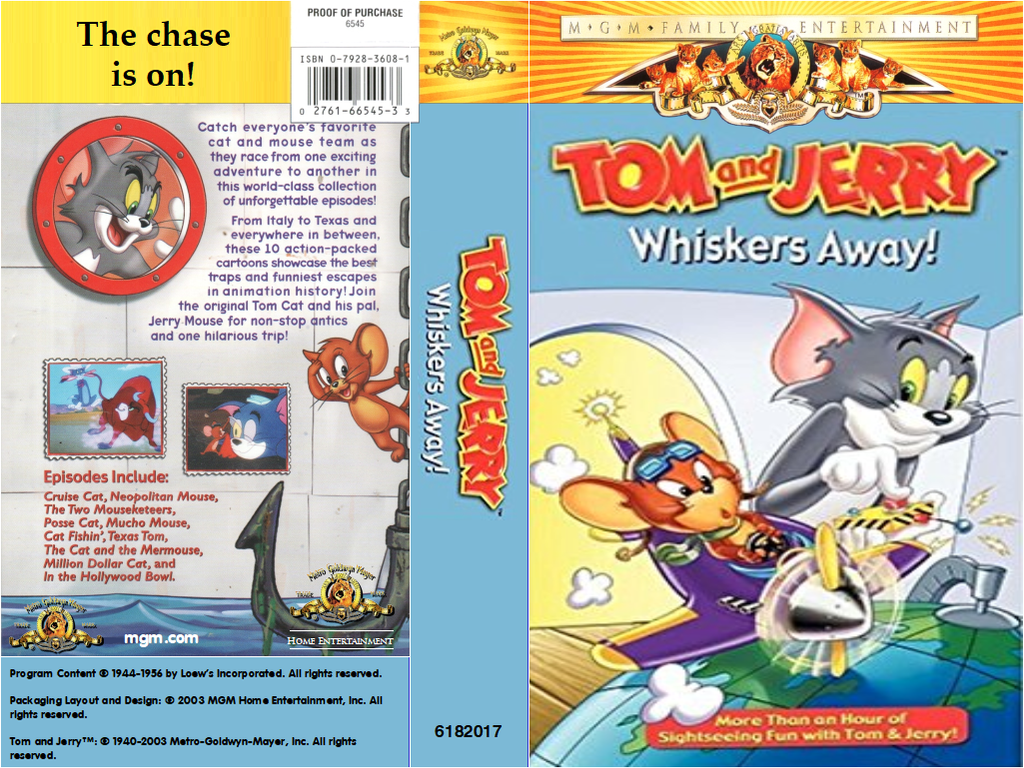 Tom and Jerry - Whiskers Away VHS Cover (MGM ver.) by MalekMasoud