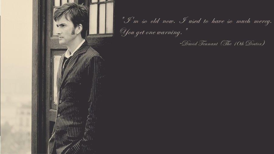 Doctor Who Wallpaper David Tennant Quote Famous Quotes D...