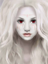 Effie: Phoenix Rising Character Drawing by Karen-Dillon