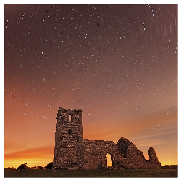Knowlton Church at night by SebastianKraus