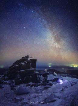 Milky Way at Caisteal Abhail