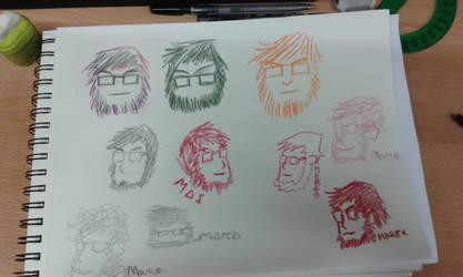 More sketches by marko-kun-astur