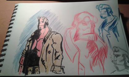 Hellboy sketches by marko-kun-astur