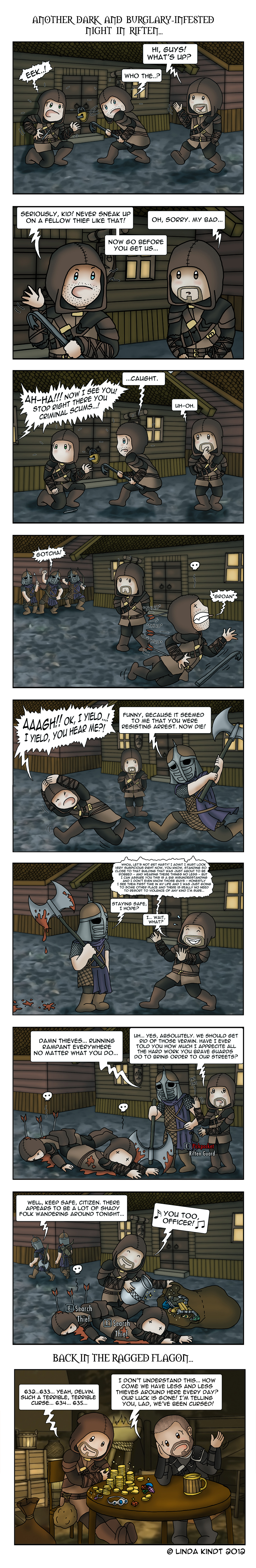 Skyrim: No Honor Among Thieves by Isriana on DeviantArt