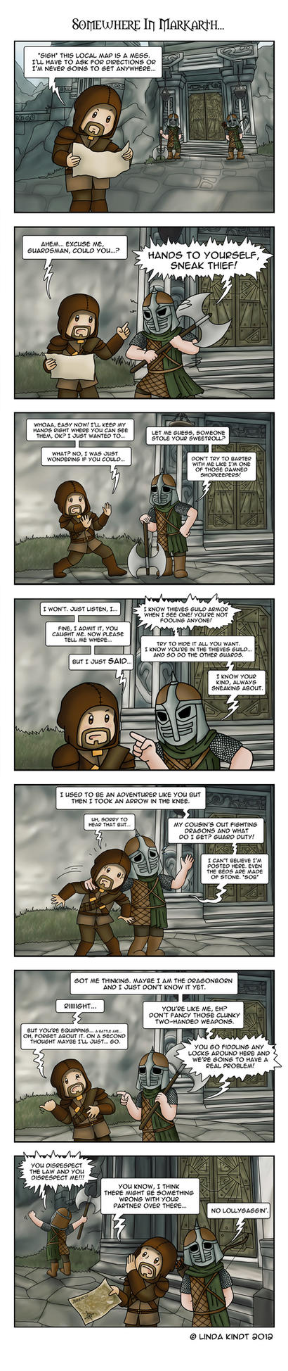 Skyrim: Guard Talk by Isriana