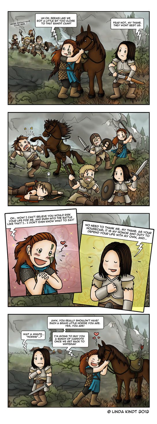 Skyrim: My Bestest Buddy by Isriana