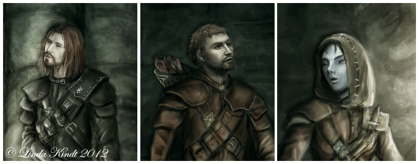 Brynjolf, Bron, Karliah by Isriana