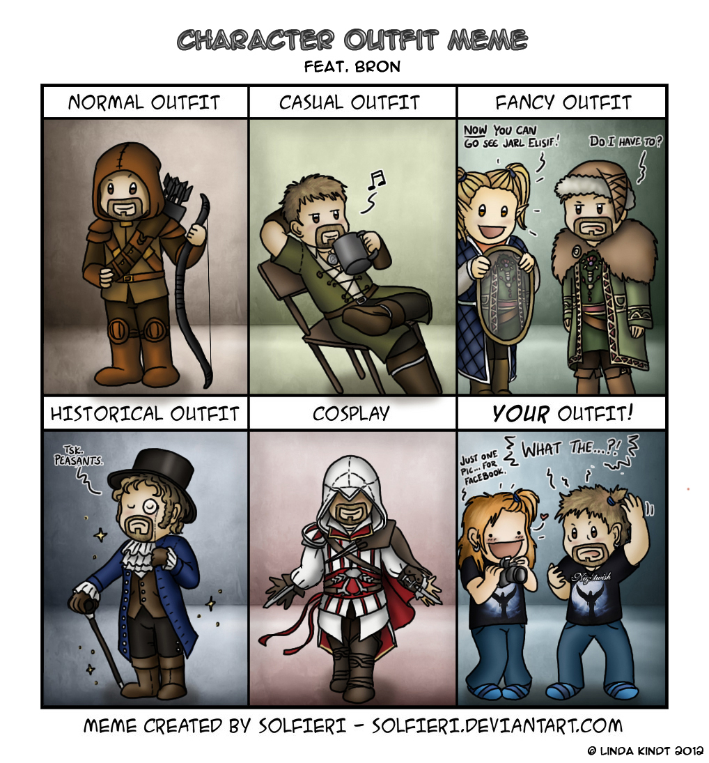 Character Outfit Meme: Bron