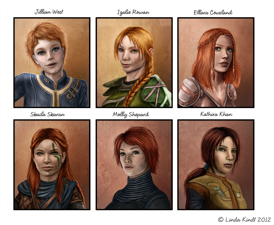 Six Shades Of Red by Isriana