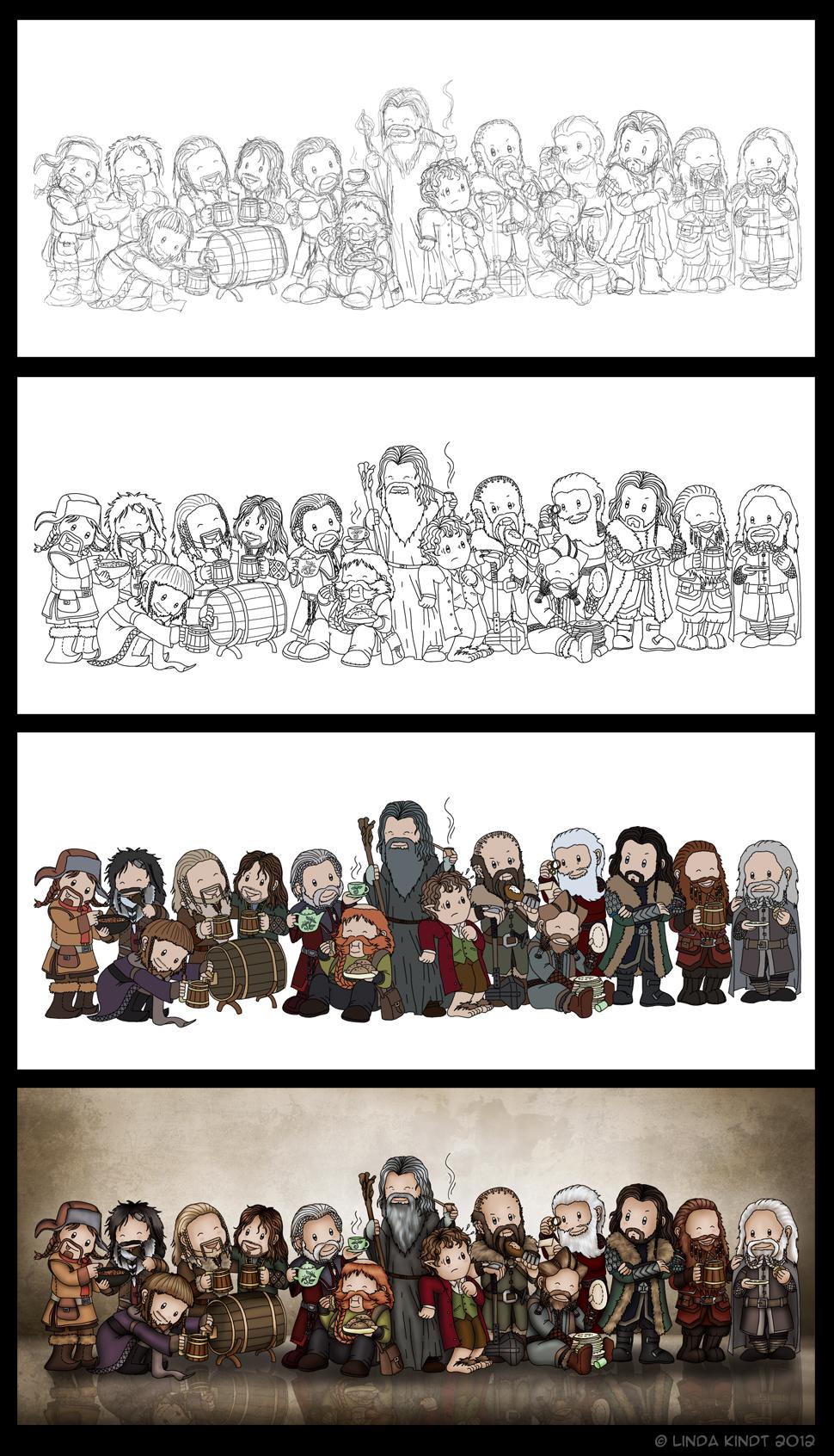 Thirteen Dwarves, A Wizard And A Hobbit