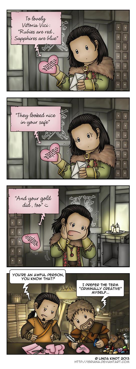 Skyrim: Valentine's Heist by Isriana