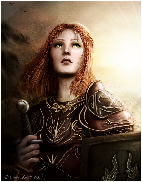 Ellara Cousland by Isriana