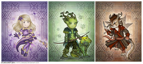 Mesmer, Ranger, and Thief