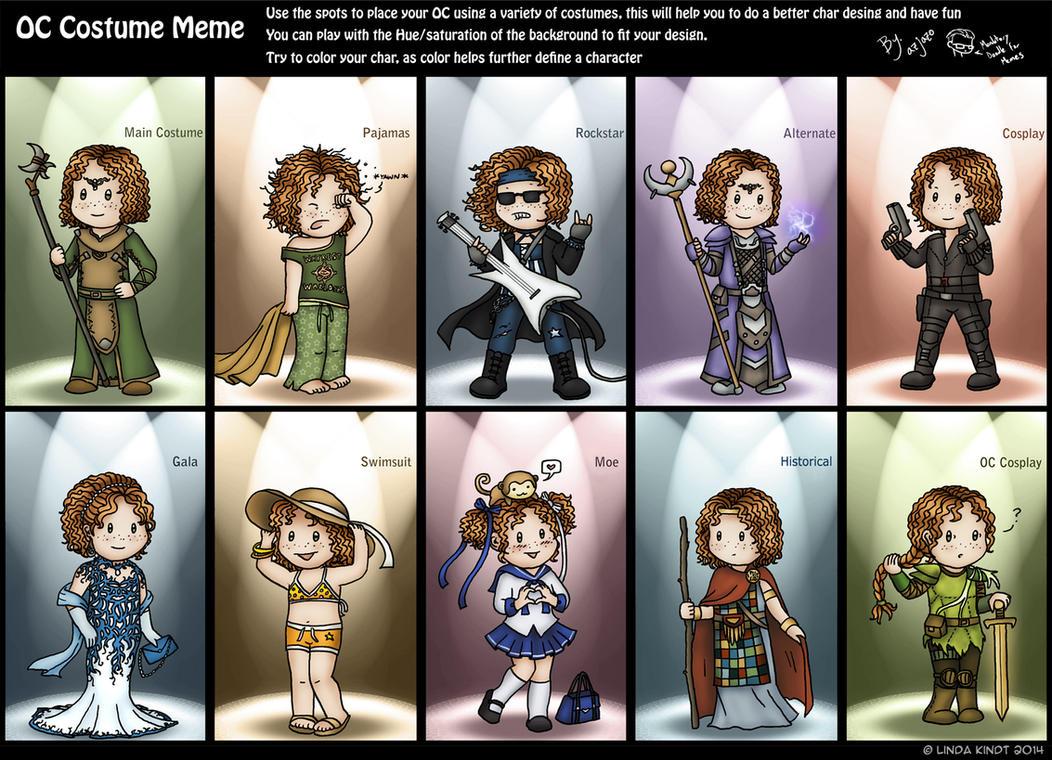 OC Costume Meme: Noelie by Isriana